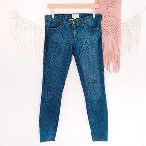 Current/Elliot Ankle Skinny Vintage Brocade Jeans